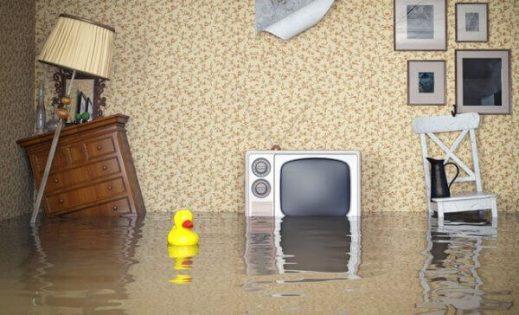 casa alagada, inundada