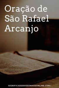 Oração de São Rafael Arcanjo