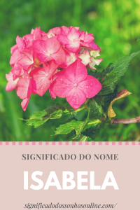 Significado do nome Isabela