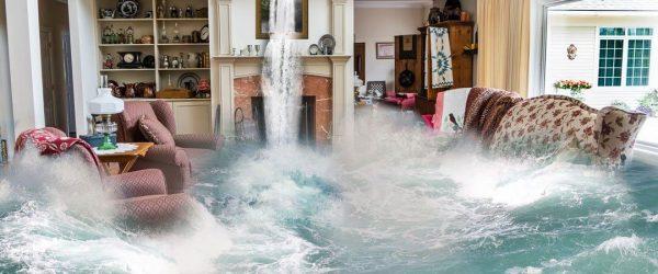 sonhar com inundação dentro de casa molhando tudo