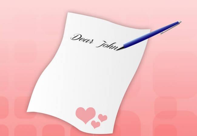 escrever uma carta de amor
