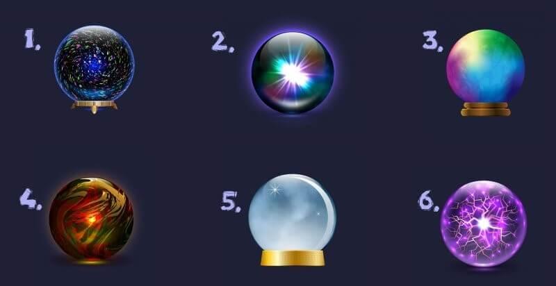 Escolha Uma Bola De Cristal Para Receber Uma Revelação Sobre Seu Futuro