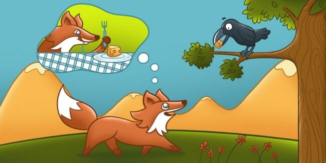 a história do corvo e da raposa
