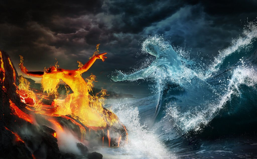 ▷ Sonhar Com Fogo e Água 【6 Significados Reveladores】