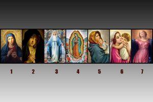 Escolha uma imagem da Virgem Maria e se surpreenda com o que irá descobrir sobre você