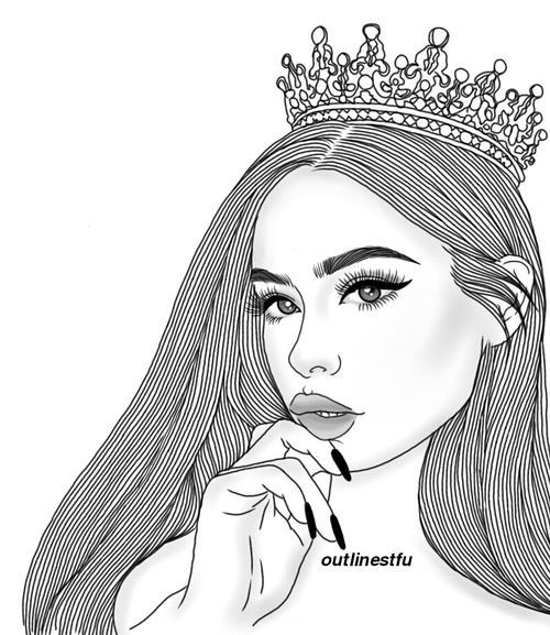 Fotos de desenhos Tumblr garota de coroa na cabeça