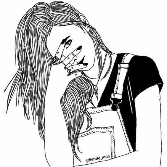 Fotos de desenhos Tumblr menina tímida