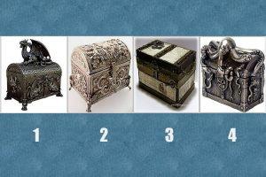 Em qual desses baús do tesouro está escondida sua fortuna?