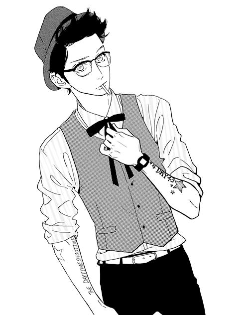 homem estiloso desenho tumblr