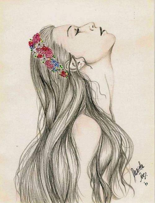 menina de perfil desenho tumblr