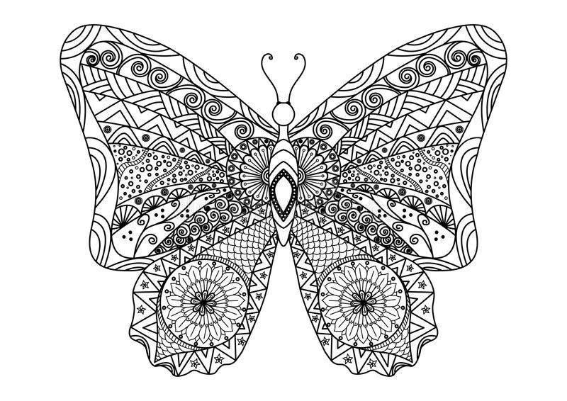 desenho tumblr para colorir borboleta