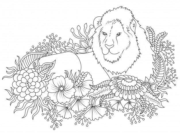 desenho tumblr para colorir leão