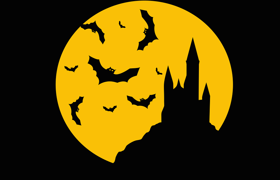 morcegos no halloween