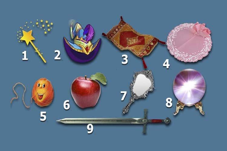 Escolha dois itens mágicos e aprenda algo especial sobre você
