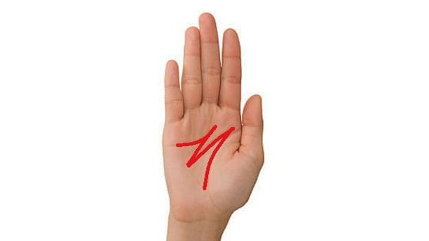 """Você tem a letra """"M"""" na mão? Se você tiver, você tem sorte!"""