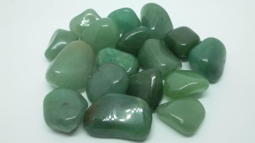 quartzo verde polido
