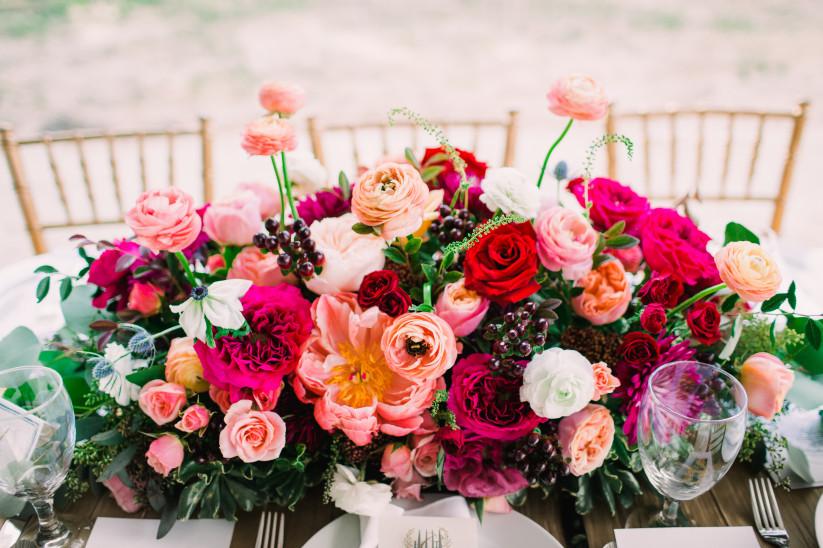 flores coloridas de casamento