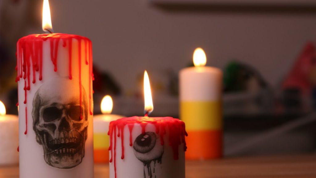 velas do dia das bruxas