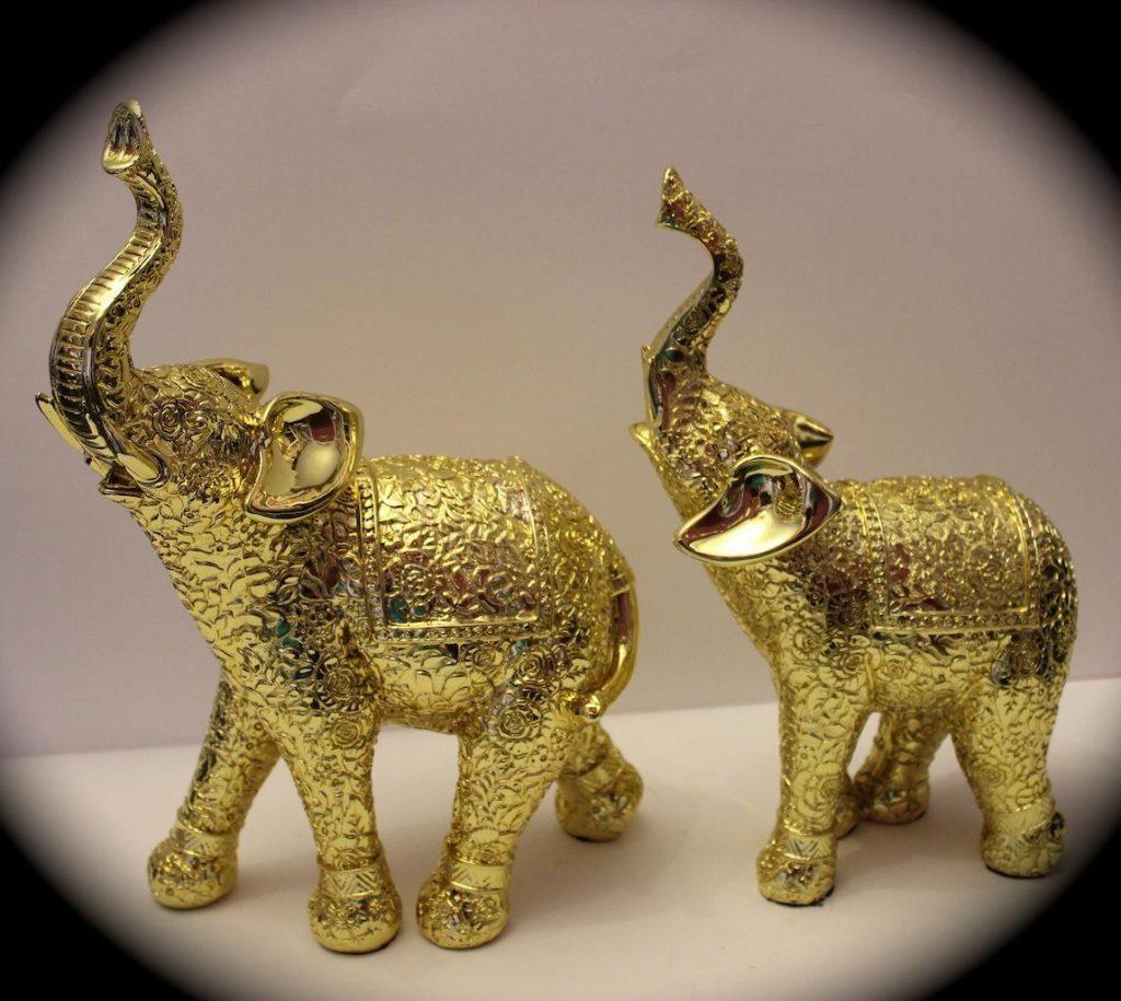 dois elefantes de amuleto da sorte