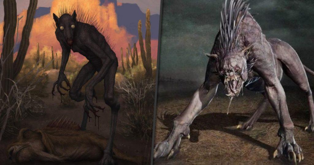 duas fotos do chupa-cabra