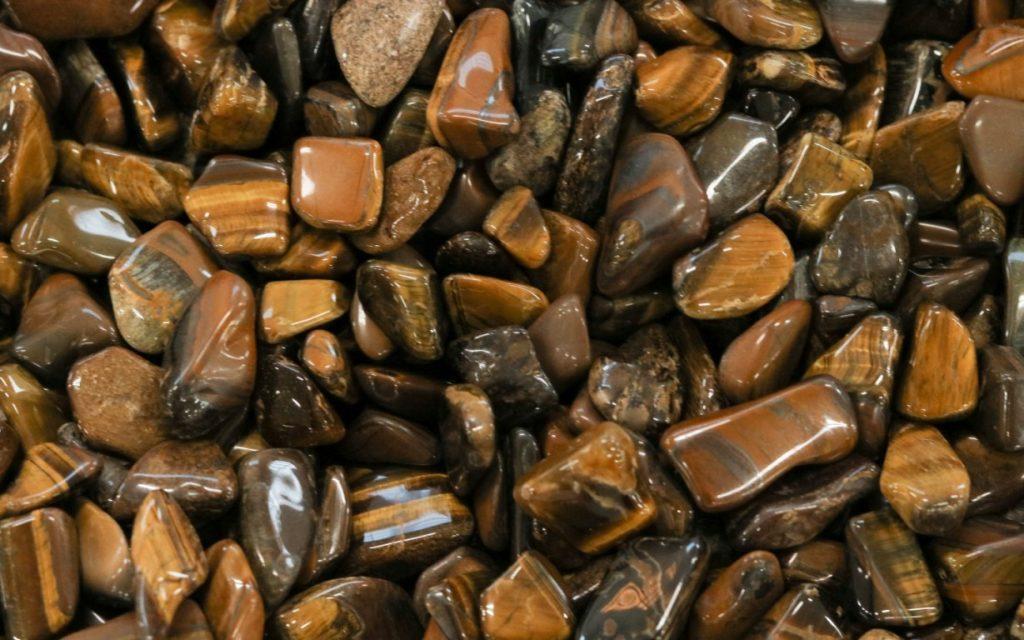 muitas pedras olho de tigre