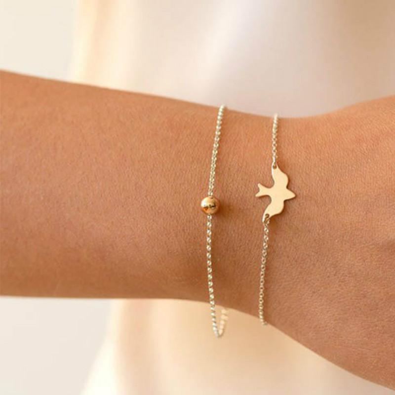 pulseira de amuleto da sorte de pombo da paz