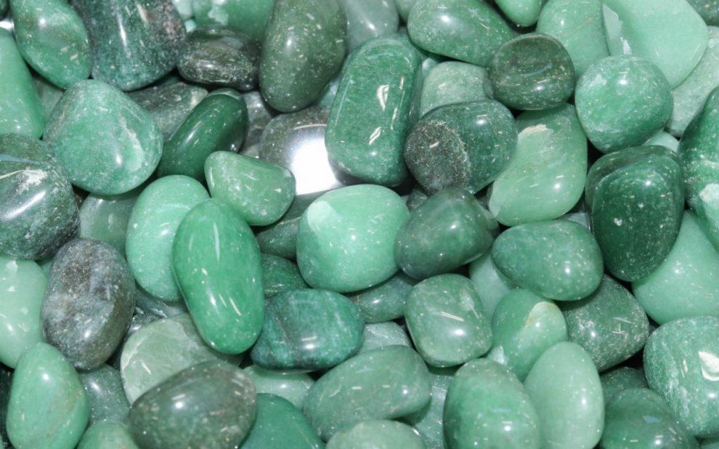 foto da pedra preciosa quartzo verde