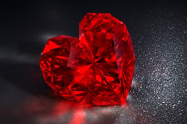 foto da pedra preciosa rubi