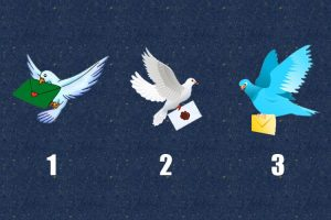 O seu pombo-correio trouxe uma bela carta do futuro: Escolha o seu favorito!