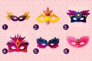 Escolha uma máscara e vamos revelar o principal segredo sobre você