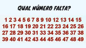 Você consegue encontrar o número que falta em 10 segundos? Poucos conseguiram!