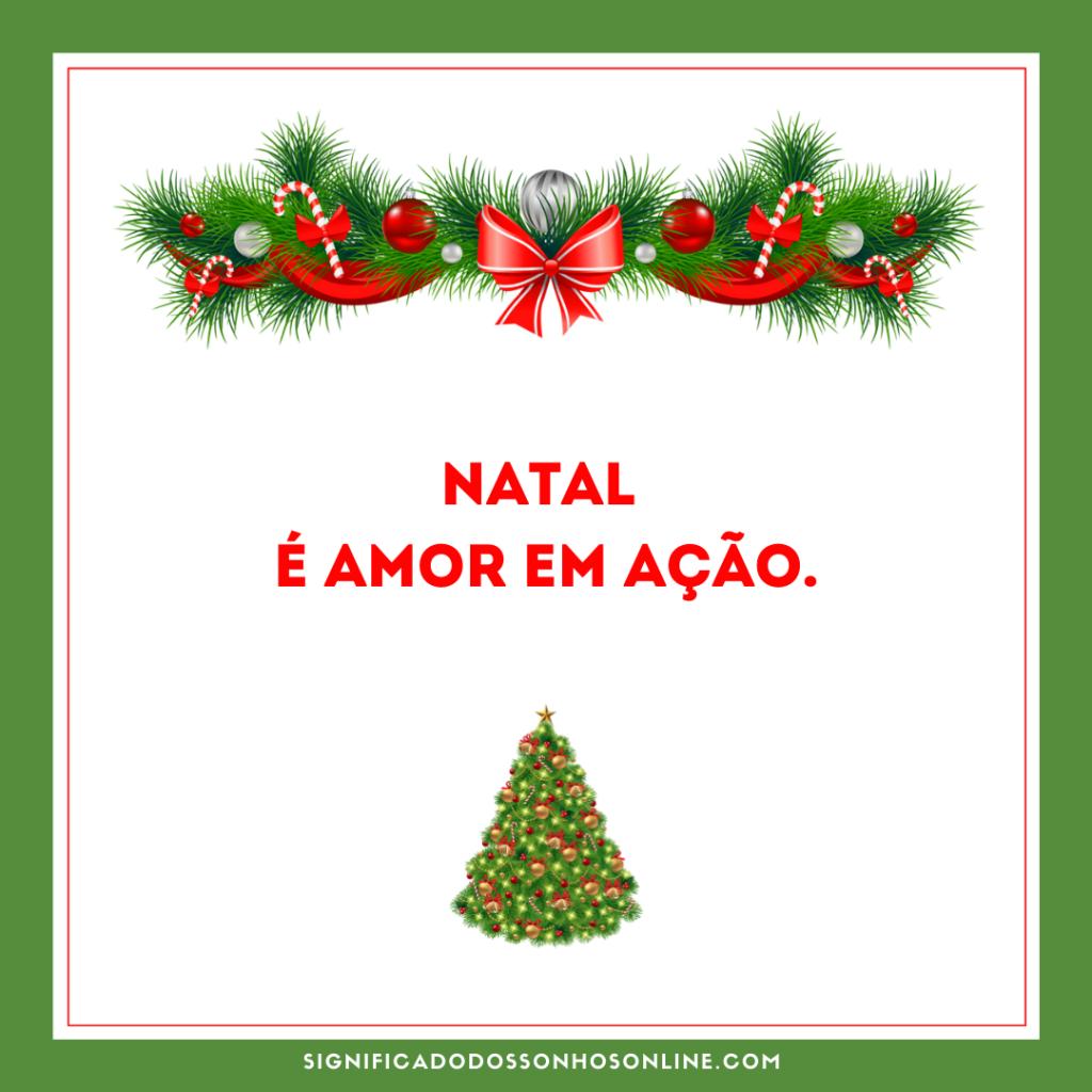 imagem de natal escrita natal é amor em ação