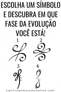 Qual símbolo você escolhe? Ele dirá em qual fase da evolução você está