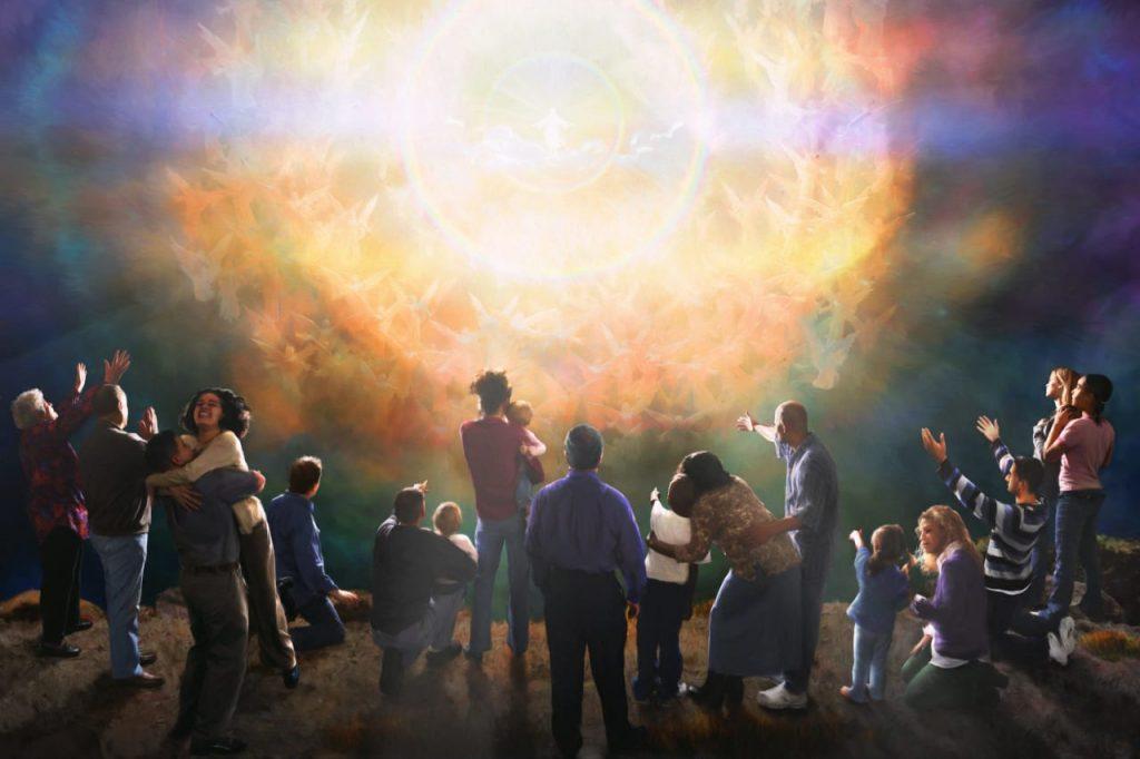 pessoas felizes com a volta de Jesus