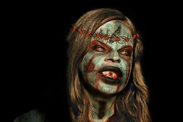 monstro feio de halloween
