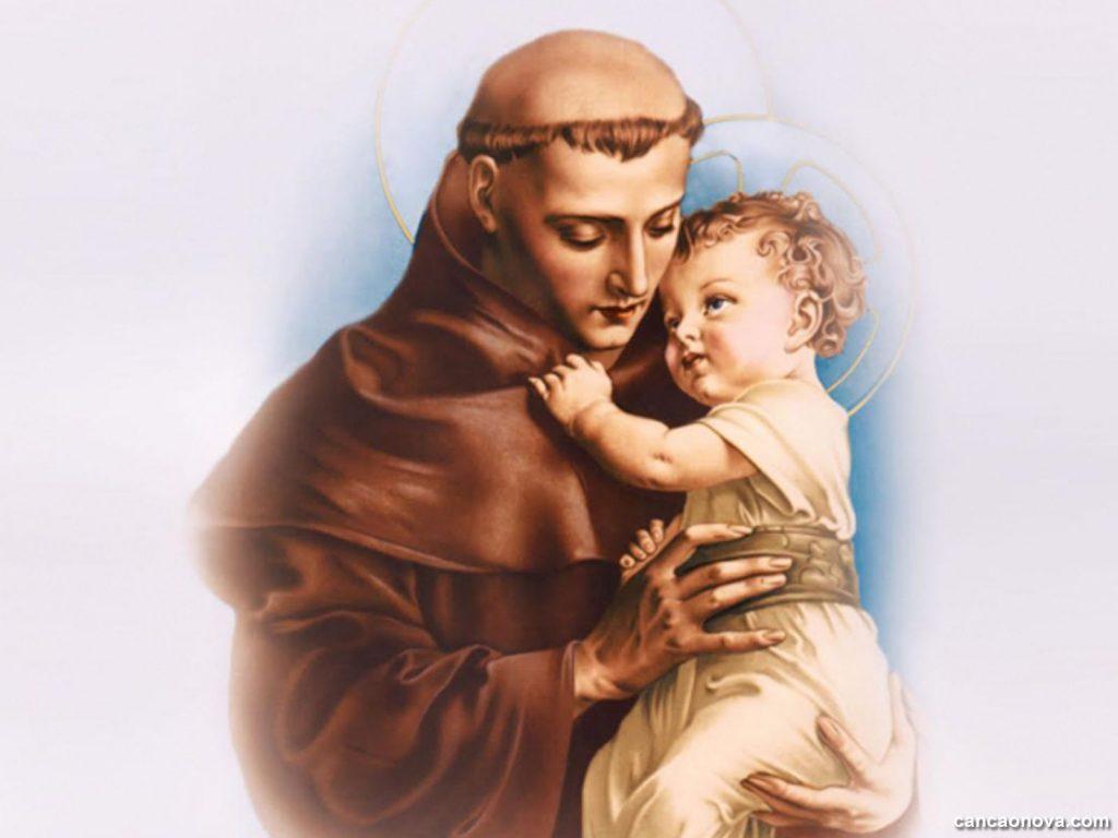 santo Antônio segurando um menino