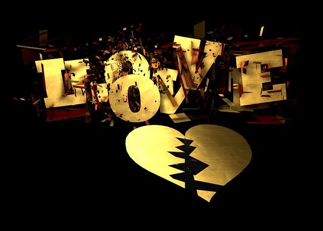 coração partido escrito love