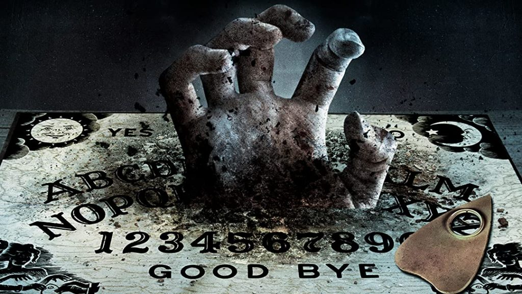 mão de demônio no tabuleiro ouija